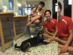 Raffi's adopters - Nicole and Robin