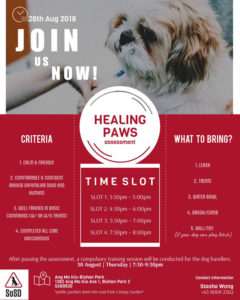 Healing Paws Assessment 2018