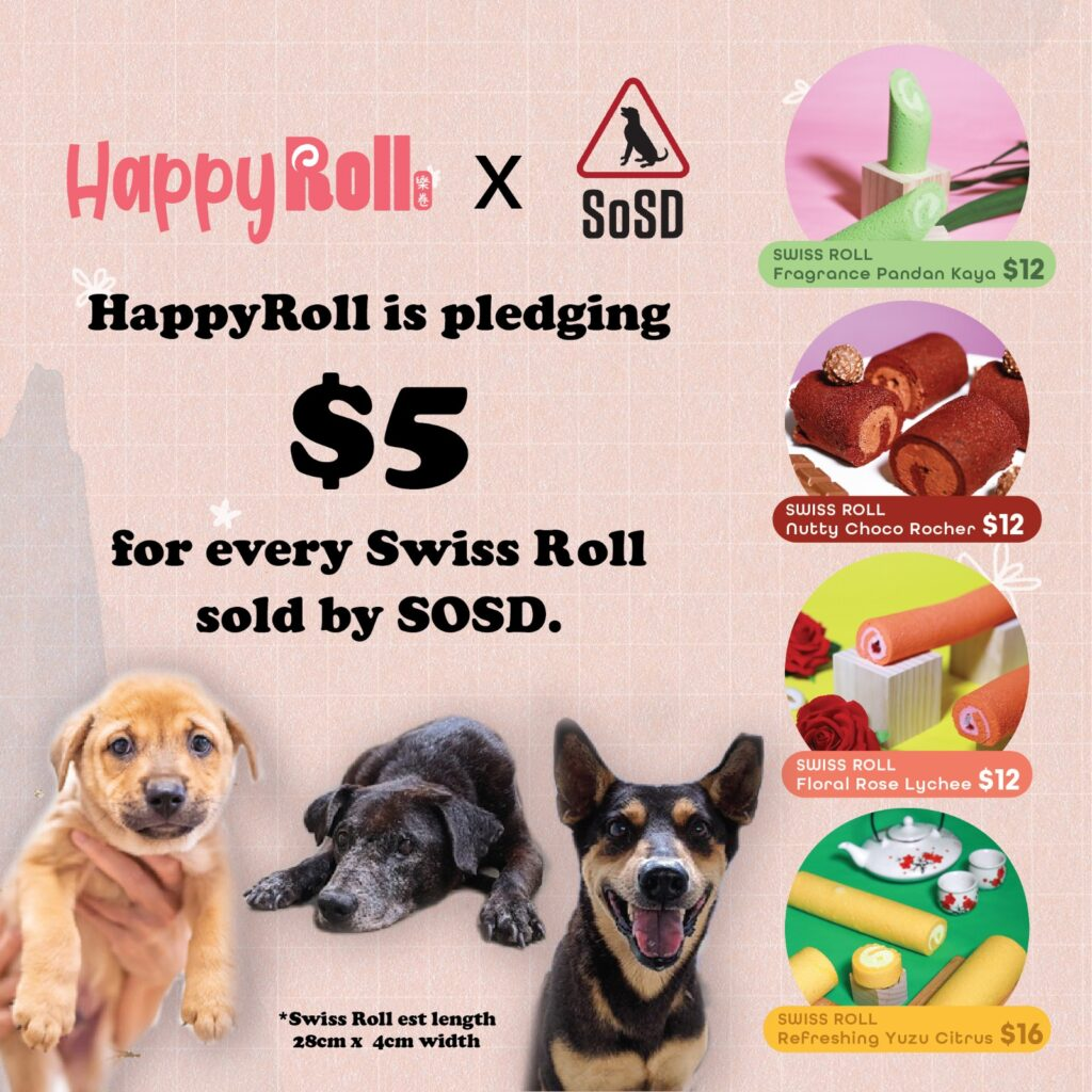 Happy Roll pledge $5 donation from sales